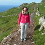 Anne Treur tijdens een wandeling op Sheeps Head