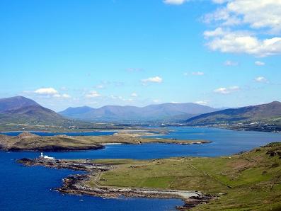 Afgelopen zomer maakten we deze foto op Valentia Island, terwijl we in een korte broek liepen!