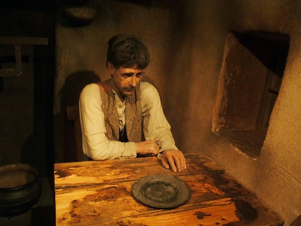 Een magere Ier, slachtoffer van de Ierse hongersnood in de 19e eeuw.
