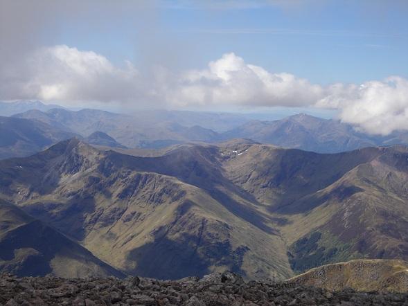 Uitzicht vanaf de Ben Nevis, midden in de Highlands!