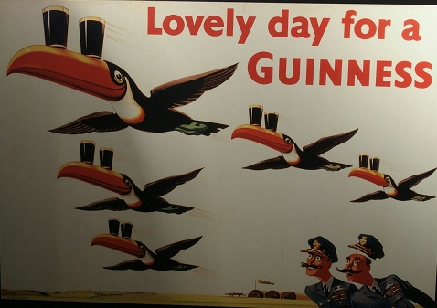 Schitterende reclameborden van Guinness!