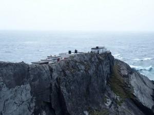 Het Lighthouse op Mizen Head waar Marconi onderzoek uitvoerde