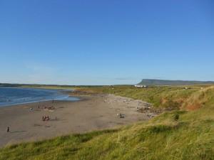 Het zandstrand van Rosses Point