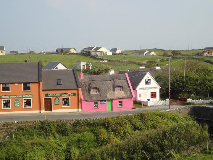 De gekleurde huisjes van Doolin!